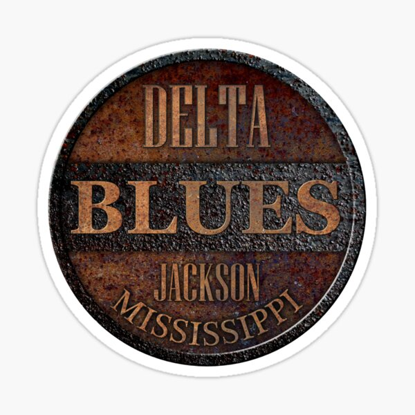 Rusty delta blues Sticker