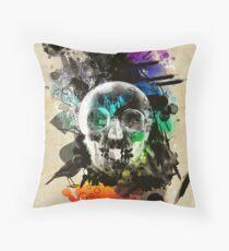 skull explosion Throw Pillow