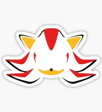 Shadow the Hedgehog Minimalistic Design Sticker