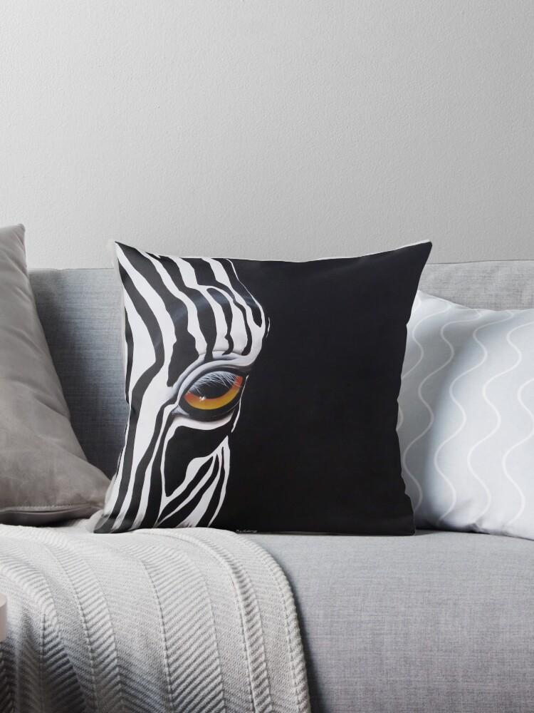 Zebra eye by noleenr