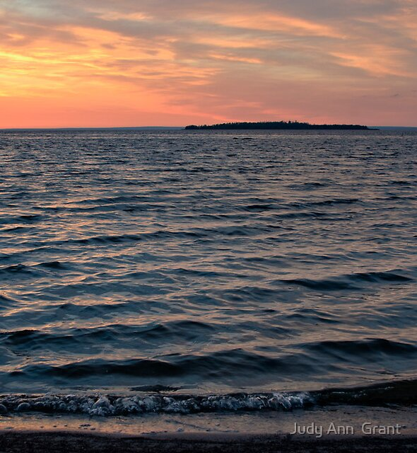 Sunset Slave Lake  by Judy Grant