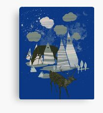 magic mountains Canvas Print