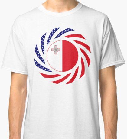 Maltese American Multinational Patriot Flag Series Classic T-Shirt