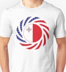 Maltese American Multinational Patriot Flag Series Slim Fit T-Shirt