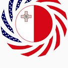 Maltese American Multinational Patriot Flag Series by Carbon-Fibre Media