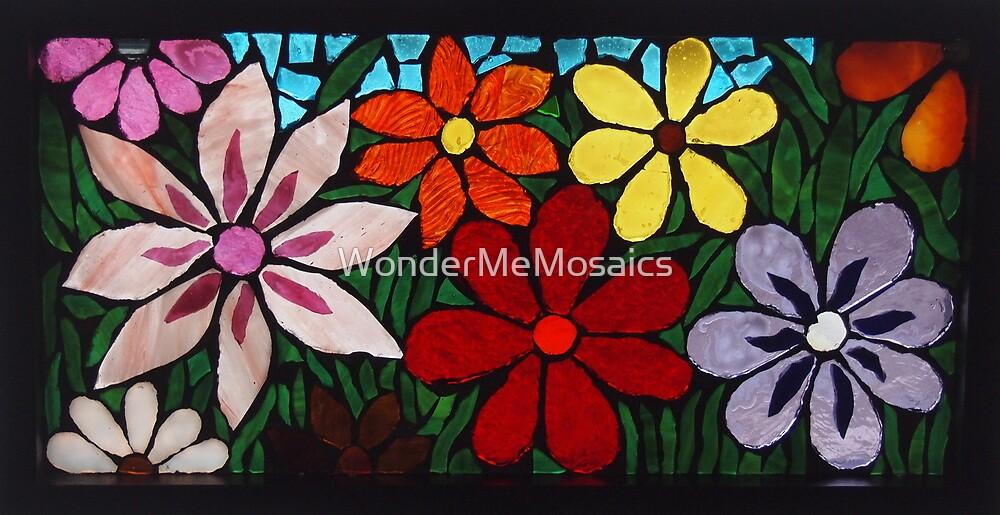 Burst of Garden of Flowers, Mosaic by WonderMeMosaics
