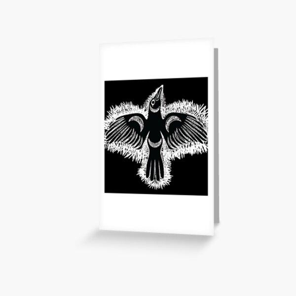 Coast Salish Crow Greeting Card