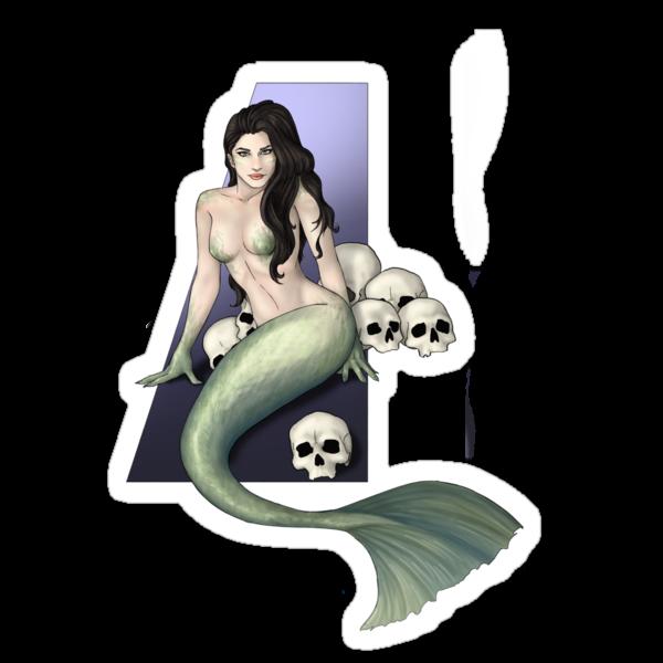 Skulls and Mermaid by CatAstrophe