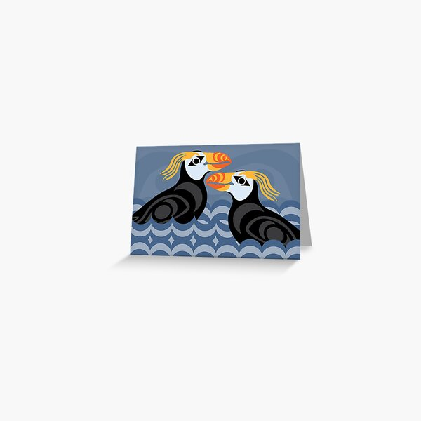 Tufted Puffins Greeting Card