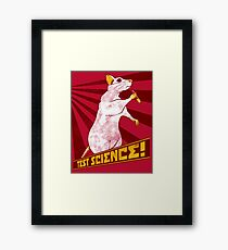 Test Science! Framed Print