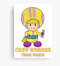 Team Wario Crewmember Canvas Print
