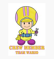 Team Wario Crewmember Photographic Print