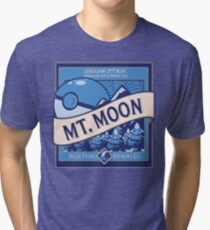 Mt. Moon Pokemon Beer Label Tri-blend T-Shirt