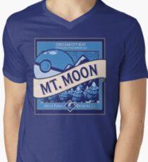 Mt. Moon Pokemon Beer Label Men's V-Neck T-Shirt