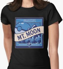 Mt. Moon Pokemon Beer Label Womens Fitted T-Shirt