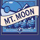 Mt. Moon Pokemon Beer Label by Rachael Raymer
