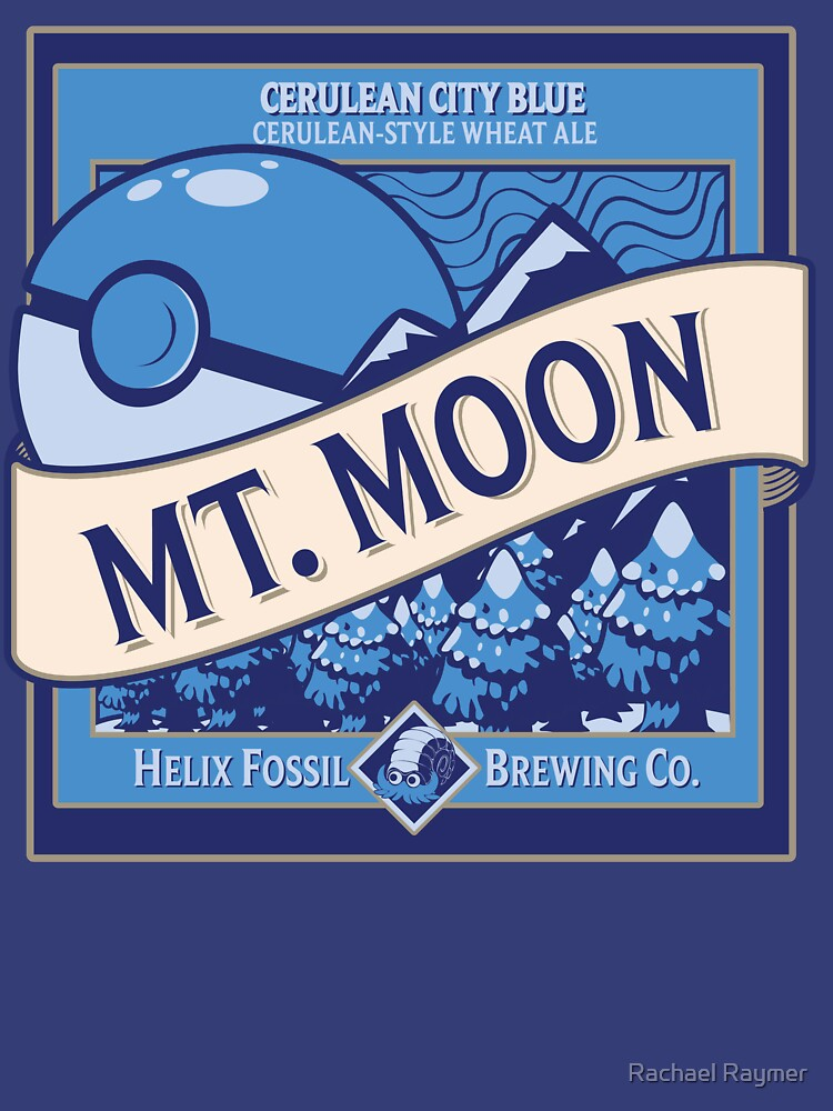 TShirtGifter presents: Mt. Moon Pokemon Beer Label | Unisex T-Shirt