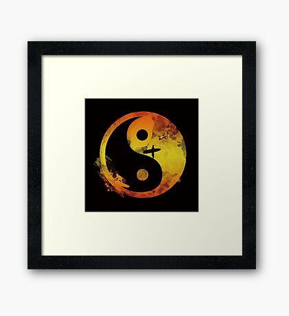yin yang surfin V1 Framed Print