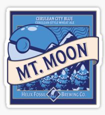 Mt. Moon Pokemon Beer Label Sticker