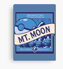 Mt. Moon Pokemon Beer Label Canvas Print