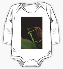 very rare insect :(1) Baby phasme 4mm and neon green by Olao-Olavia / Okaio Créations 2015 by fz 1000  400.000 photos  framings different picture on request on each support One Piece - Long Sleeve