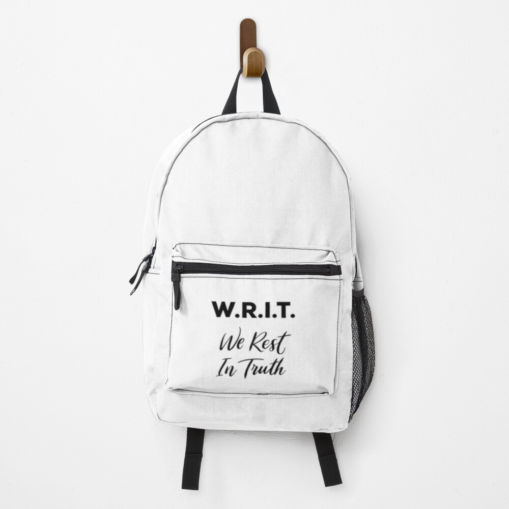 W.R.I.T. - We Rest In Truth Anne with an E Backpack