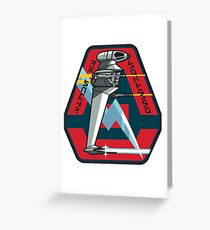 B-WING SQUADRON PATCH Greeting Card