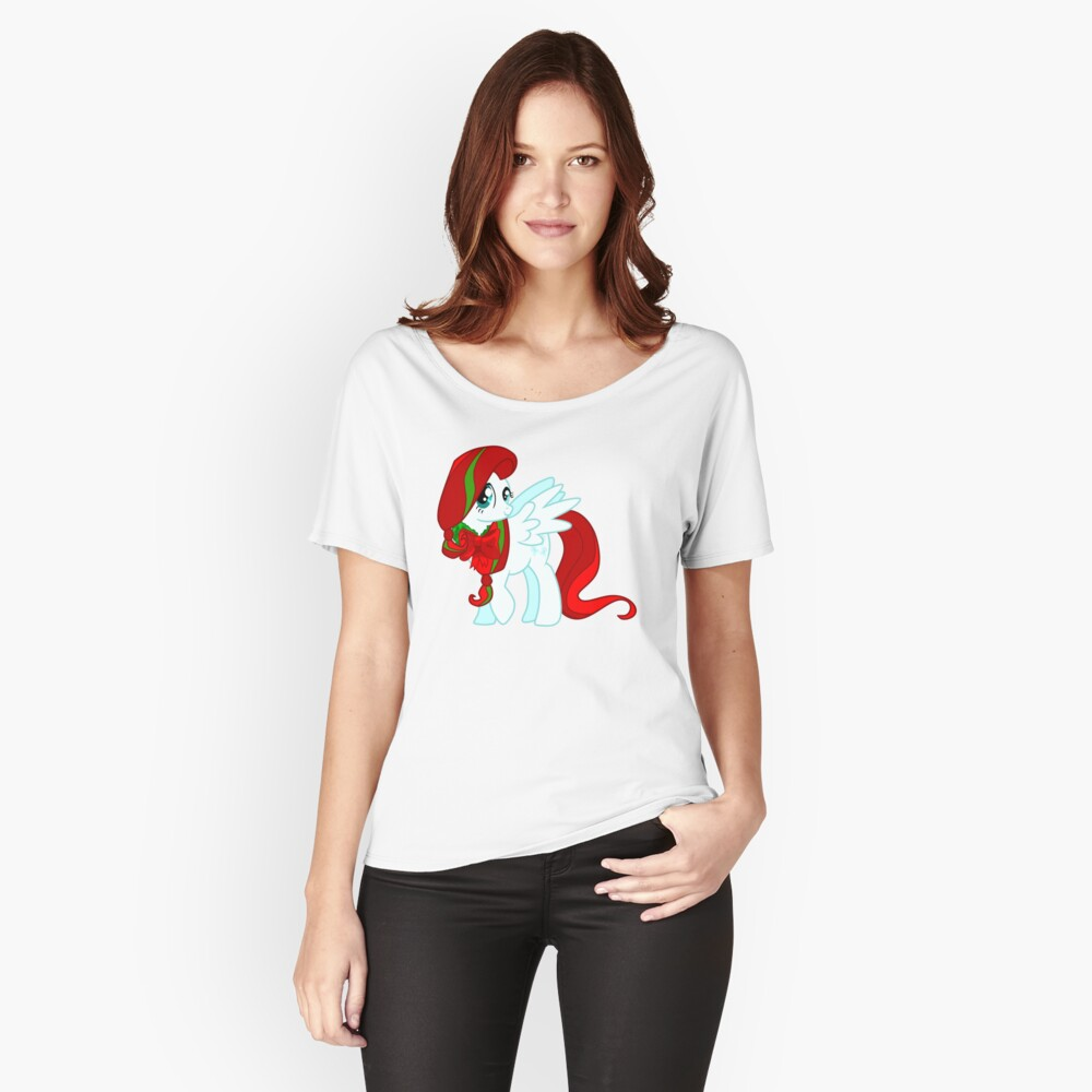 Christmas Fluttershy Women's Relaxed Fit T-Shirt Front