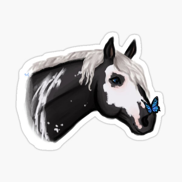 Horse with a butterfly Sticker