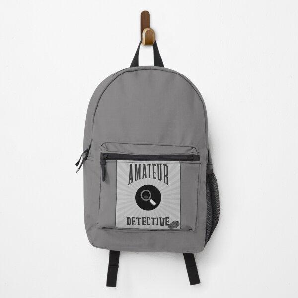 Amateur Detective - Grey Tones Backpack