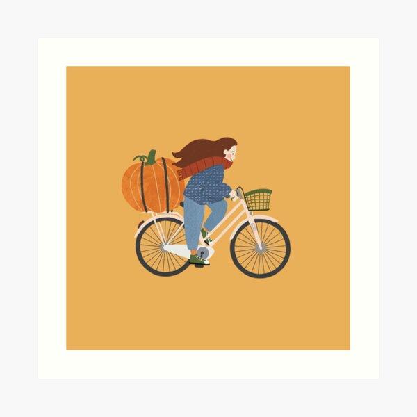 Fall on a bike Art Print