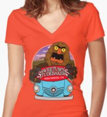 Sweetums Studebakers Women's Fitted V-Neck T-Shirt