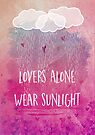lovers alone wear sunlight by Sybille Sterk