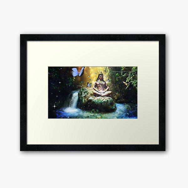 Lord Shiva in Nature Framed Art Print