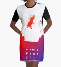 PIGS ON THE WING Graphic T-Shirt Dress