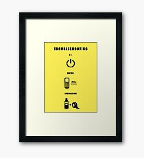 Troubleshooting (dark shirt) Framed Print