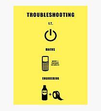Troubleshooting (dark shirt) Photographic Print