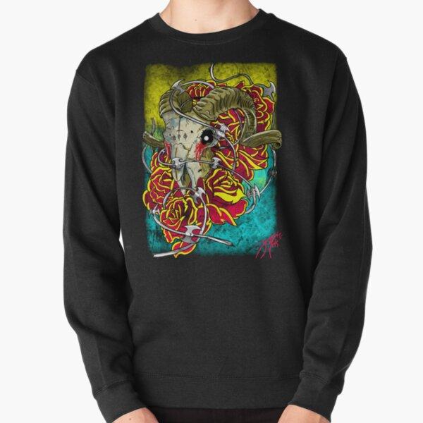 ram skull Pullover Sweatshirt
