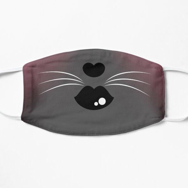 Grey Kitty Mask Flat Mask