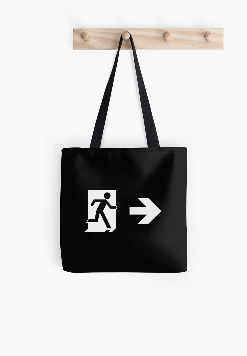 Running Man Emergency Exit Sign, Right Hand Arrow by Egress Group Pty Ltd