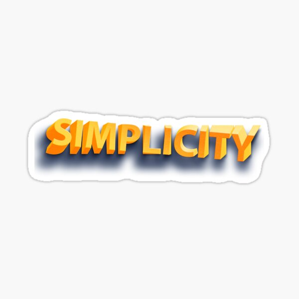 SIMPLICITY Sticker