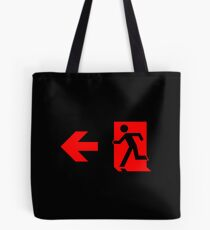 Running Man Emergency Exit Sign, Left Hand Arrow Tote Bag