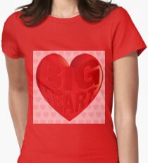 BIG HEART Womens Fitted T-Shirt
