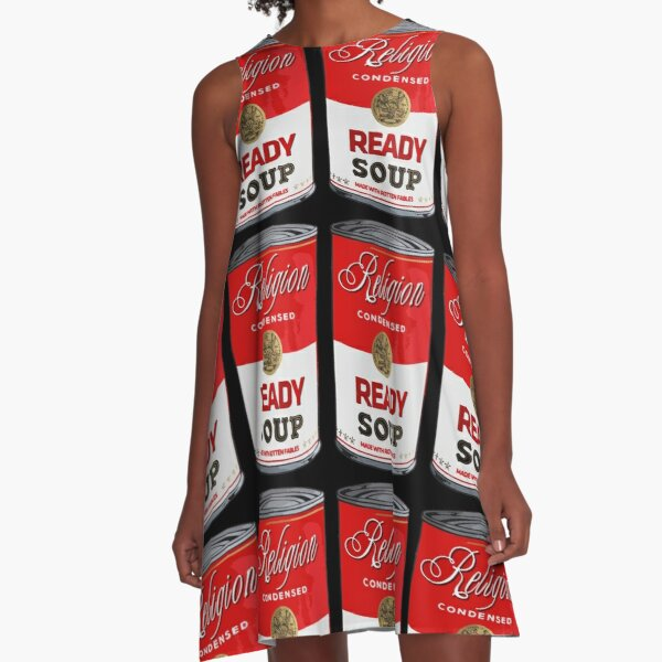 warhol religion condensed soup A-Line Dress