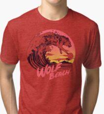Wolf Beach Tri-blend T-Shirt