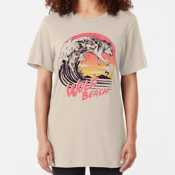Wolf Beach Slim Fit T-Shirt