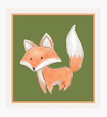 Cute Little Fox Painting Photographic Print