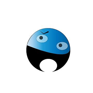 The slightly see through blue man by designmayvary