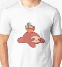 Sloth and Cactus Unisex T-Shirt