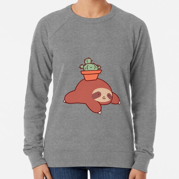 Sloth and Cactus Lightweight Sweatshirt